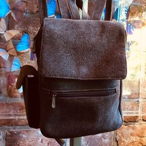 Handbags - Suede backpack